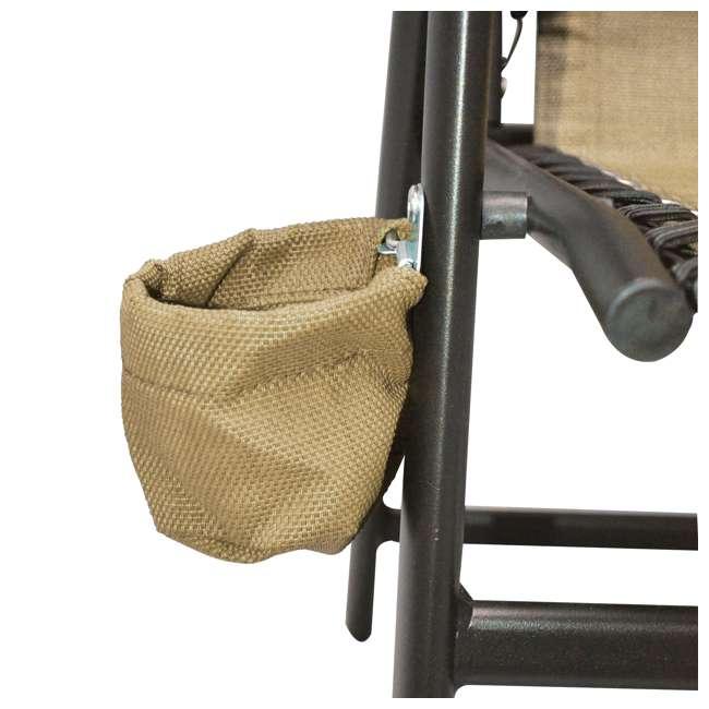CVANXFC01152-2PK-U-B Caravan Canopy Infinity Suspension Folding Chair with Cupholder (2 Pack) (Used) 3