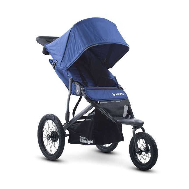 JVY-8060 Joovy 360 Zoom Ultralight Light Swivel Baby Stroller Jogger, Blue
