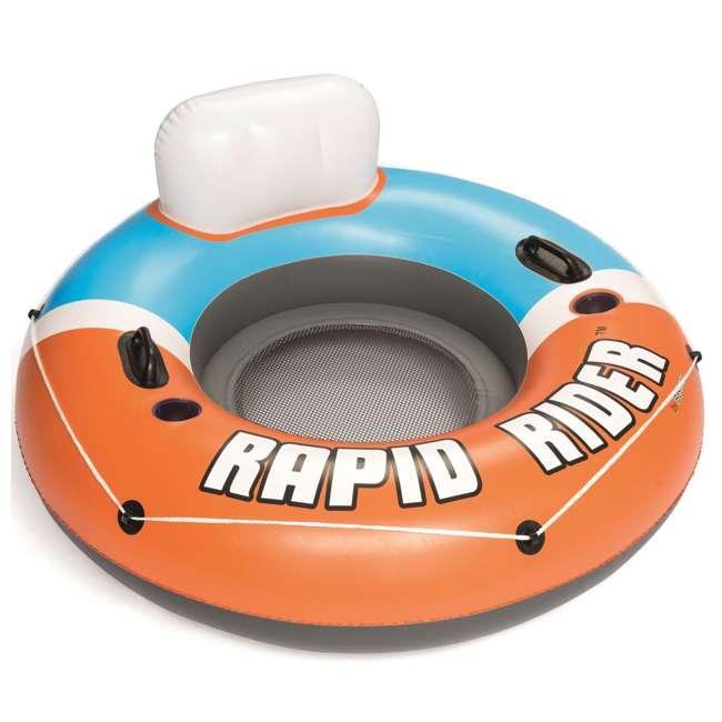 24 x 43116E-BW-NEW-U-A Bestway CoolerZ Rapid Inflatable River Pool Tube, Orange (Open Box) (24 Pack)