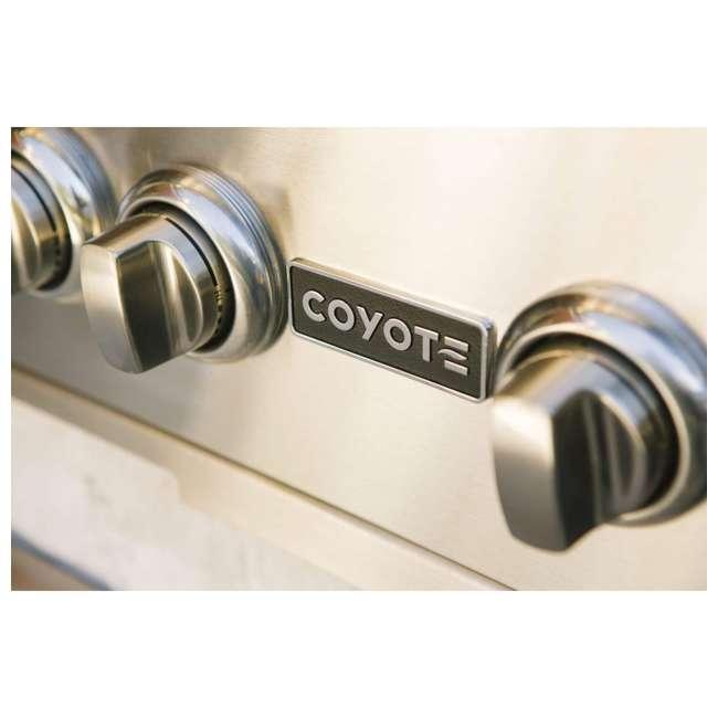 C1C28LP-FS Coyote Outdoor 28 Inch 2 Burner Freestanding Portable Propane Gas Grill, Silver 4