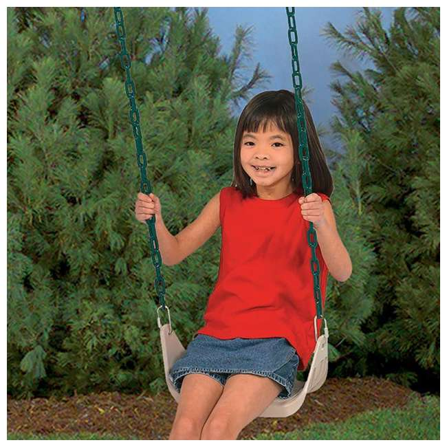PS 7946 PlayStar PS7946 Children's Rigid Plastic Swing Seat with Covered Chains, Beige 2
