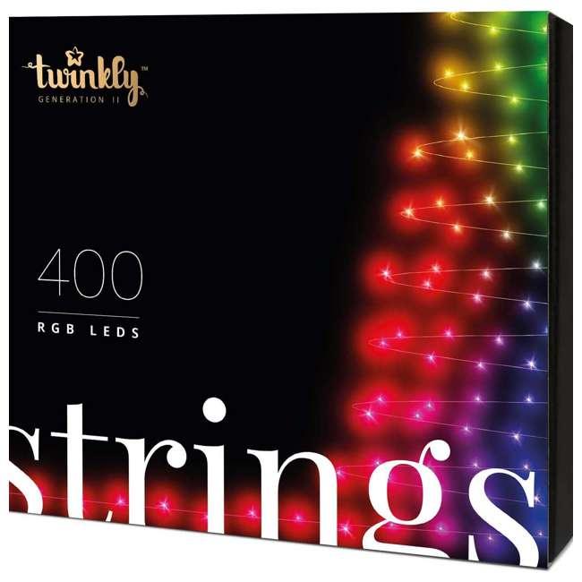TWS400STP-BUS Twinkly Smart Decorations Custom 400 Bulb LED RGB App-Controlled String Lights