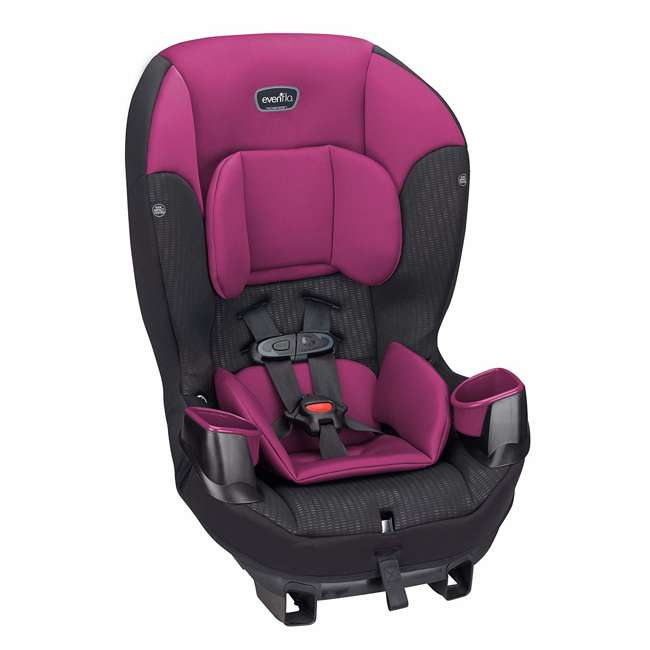 34812024 Evenflo Sonus 2 in 1 Convertible Travel Infant Baby Toddler Car Seat, Berry Beat 5