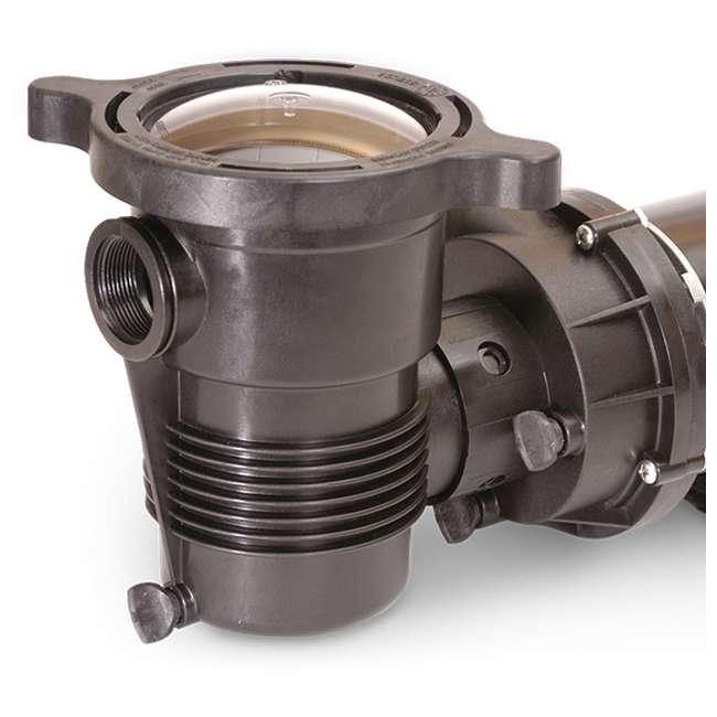347991 Pentair 347991 OptiFlo Horizontal 1HP 115V 2 Speed Above Ground Pool Pump & Cord 1