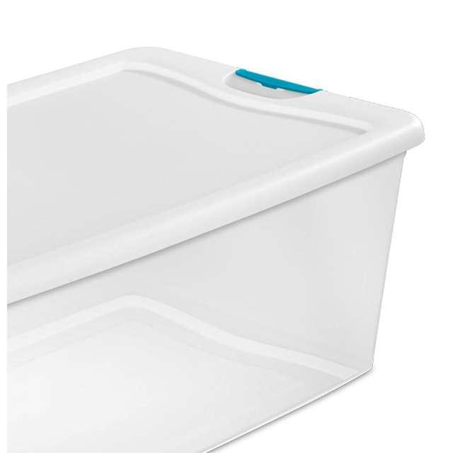 8 x 14998004-U-A Sterilite 106-Qt Clear & Blue Latching Storage Box Container (8 Pack)(Open Box) 3