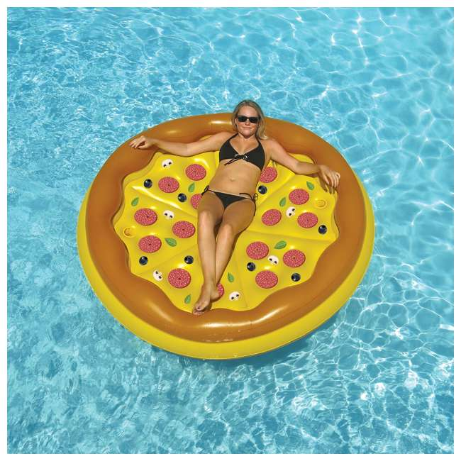 4 x 90647 Swimline Inflatable Personal Pizza Island Pool Float (4 Pack) 2