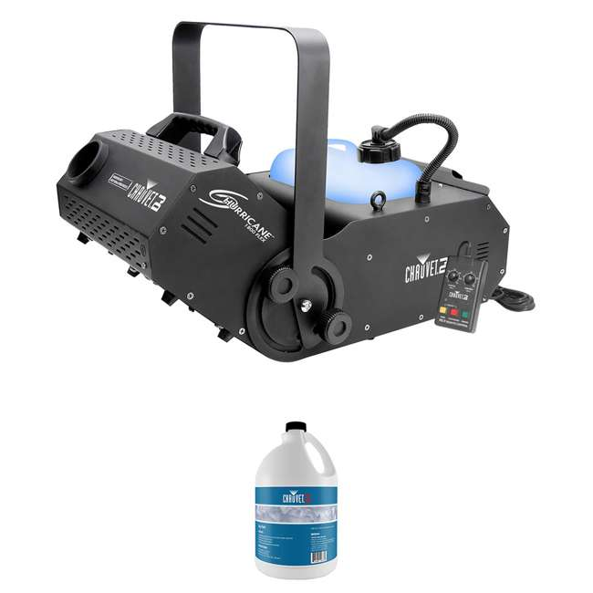 H1800FLEX + HDF Chauvet H1800 FLEX DMX Fog Machine w/Timer Remote & 1 Gallon of Fog Fluid