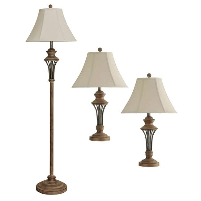 SC-L81924 Abode 84 3-Piece Moraga Floor and Table Lamp Set
