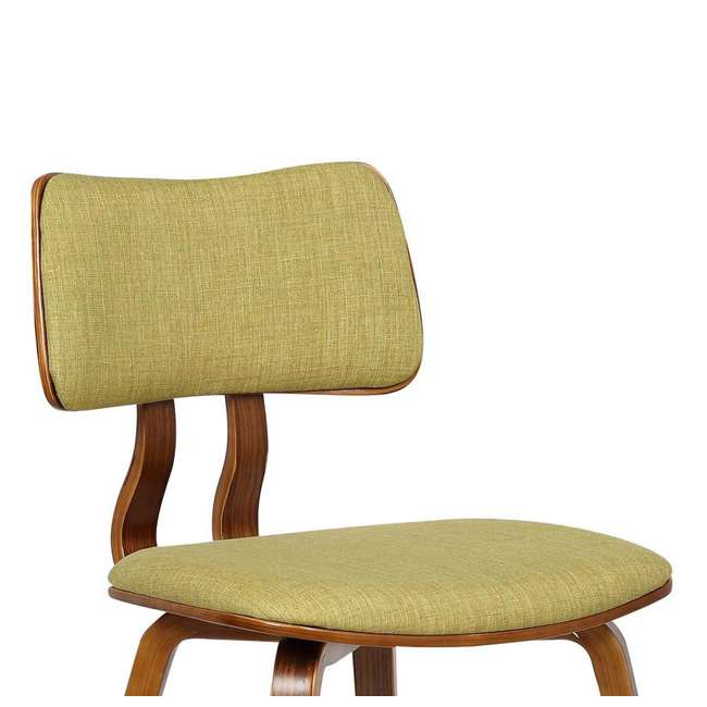 LCJASIWAGREEN Armen Living Jaguar Mid Century Dining Chair in Walnut & Green Fabric (2 Pack) 6