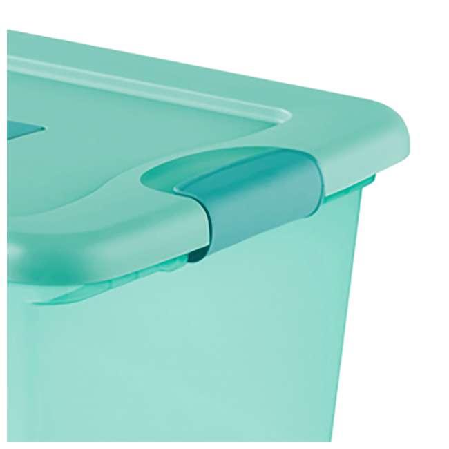 12 x 15077Y06-U-A Sterilite 64 Quart Fresh Scent Stackable Plastic Storage Box (Open Box)(12 Pack) 2