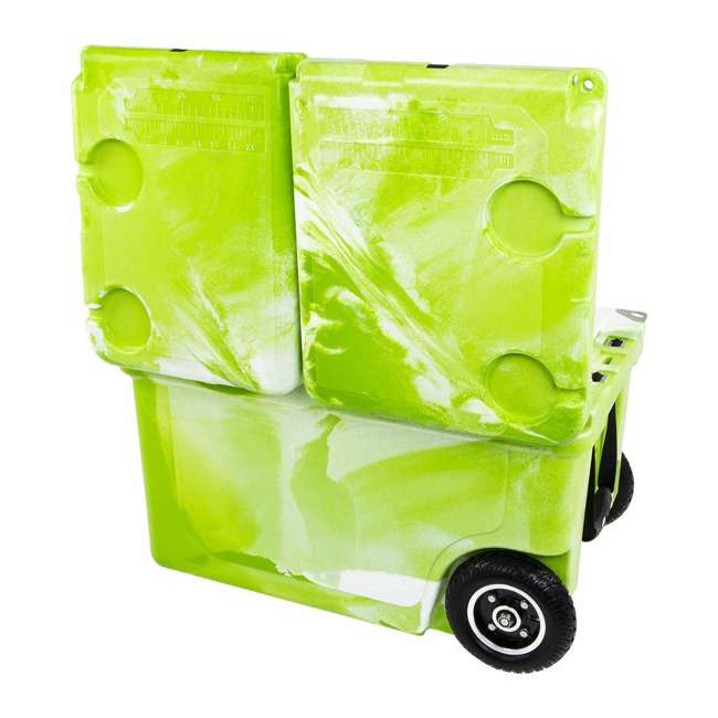 HC50-17GW WYLD HC50-17GW 50 Qt. Dual Compartment Insulated Cooler w/ Wheels, Green/White 2
