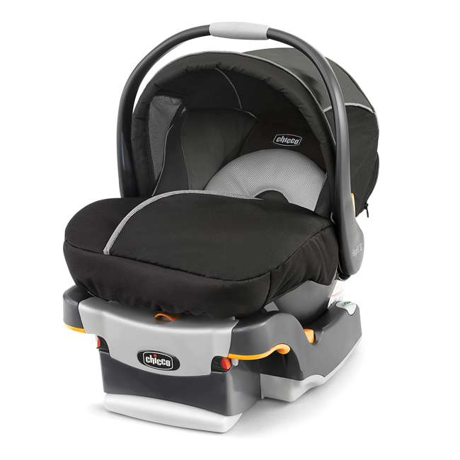 CHI-0607906295 + CHI-0607905222 Chicco KeyFit 30 Infant Stroller Caddy, Rear Facing Car Seat, and Base Travel System 5