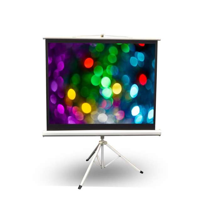 PRJTP52 Pyle 50-Inch Projector Viewing Fold-Out & Roll-Up Display Screen 1