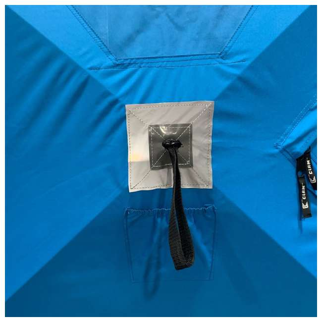 CLAM-14474 Clam 14474 C-360 Portable 6 x 6 Foot Pop Up Ice Fishing Angler Hub Shelter, Blue 2