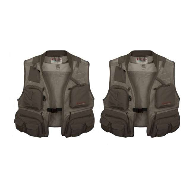 RED-5-FM007936-0506 Redington First Run Fly Fishing Vest, 2XL/3XL (2 Pack)