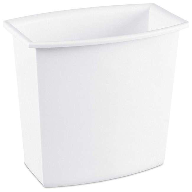 12 x 10220012  Sterilite 10220012 2-Gallon Rectangular Vanity Wastebasket, Black/White (12 Pack) 2