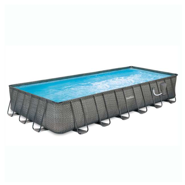 P42412521167-U-B Summer Waves 24ft x 12ft x 52in Above Ground Rectangle Frame Pool (Used)