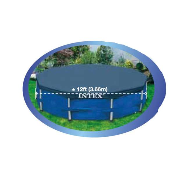 56417E-BW + 28031E Bestway Steel Pro 12-Foot x 30-Inch Frame Pool with Filter & Cover 9