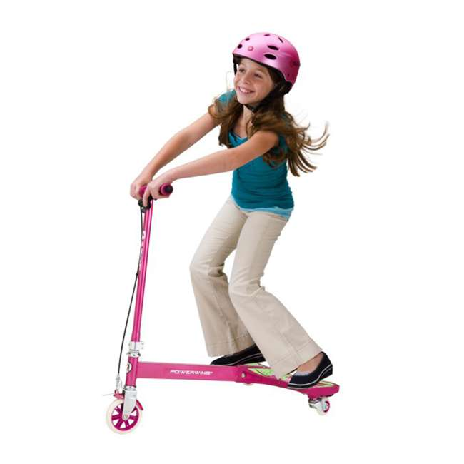 20036065 Razor PowerWing 3-Wheel Caster Powered Scooter, Sweet Pea Pink 1