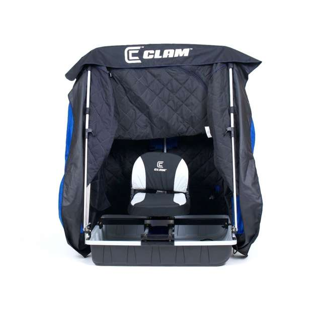 CLAM-12564 Clam 12564 Legend XL Thermal Ice Fishing Shelter with Deluxe Swivel Seat, Blue 3