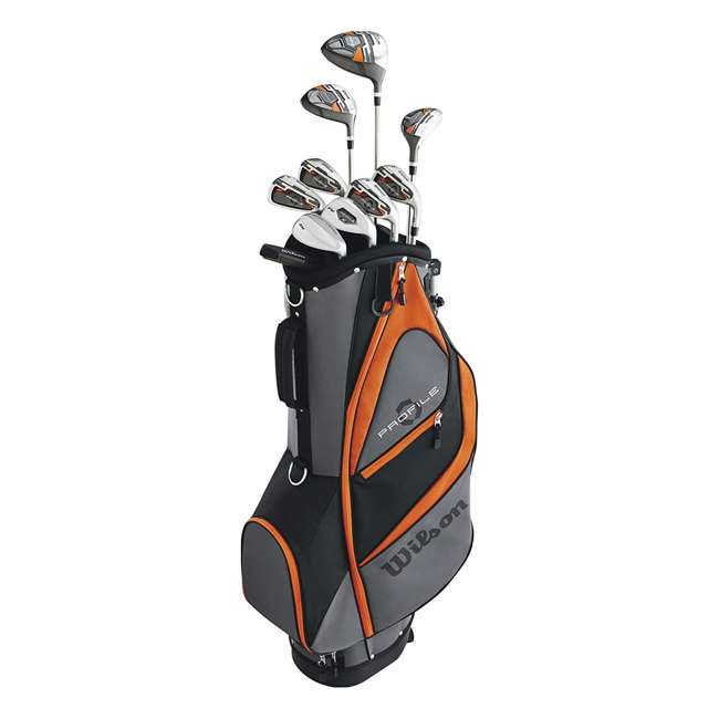WGGC58300 + 2SKB-1649W Wilson Teen Right Handed Golf Set, Orange & Wheeled Travel Case 1