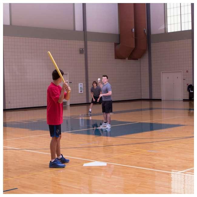 97W Champion Sports Indoor Outdoor Baseball Softball Throwdown Bases Set, White 5
