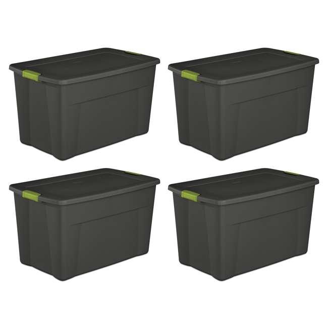 4 x 19453V04-U-A Set of 4) Sterilite 19451004 35 Gallon Storage Tote Box Latching Lid (Open Box)