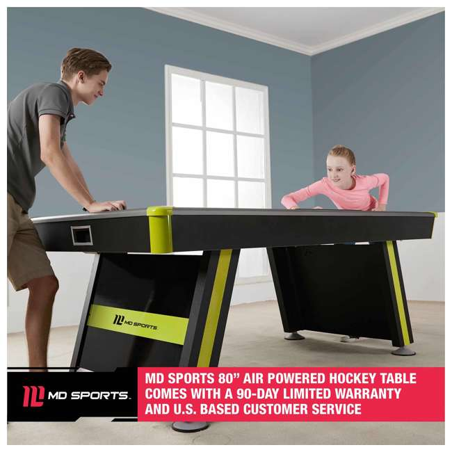 AWH080_037M MD Sports Air Powered 80 x 42-Inch 2 Player Air Hockey Table w Electronic Scorer 6