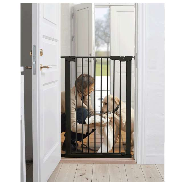 BBD-50916-2690 BabyDan 50916 Premier Extra Tall 31 Inch Pressure Mounted Pet Safety Gate, Black 1