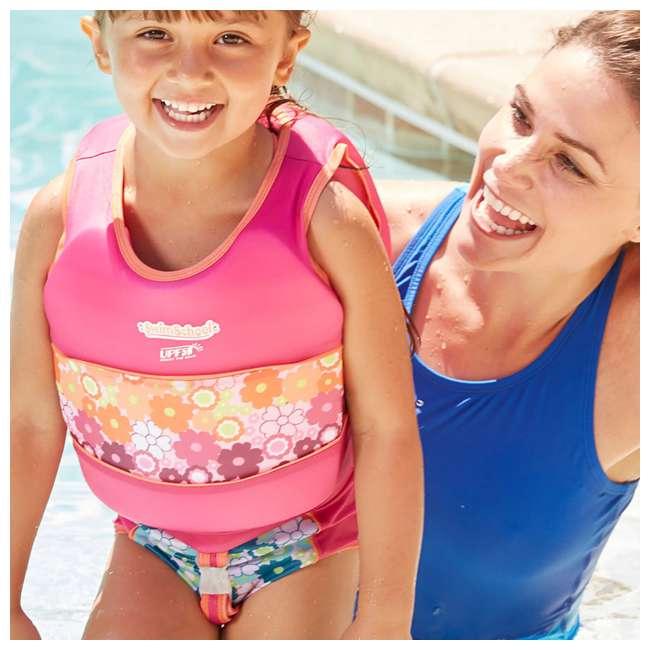 ET9139ML SwimSchool 4 to 6 Years 2 Piece Swim Trainer, Pink  1