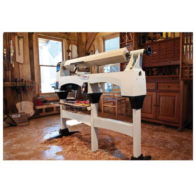 JWL-1221VS-U-C Jet Woodworking 22.5 Inch Lathe Double Size Bed Extension Kit, White (For Parts) 1
