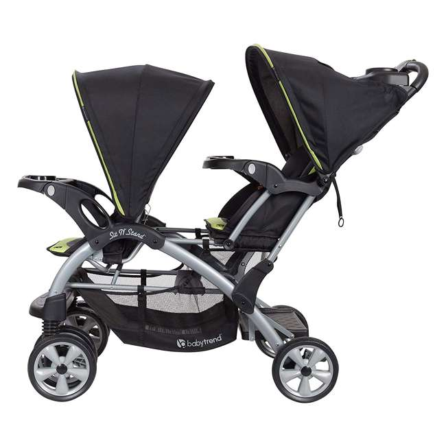 SS76B71A Baby Trend Sit N' Stand Double Stroller, Optic Green 1