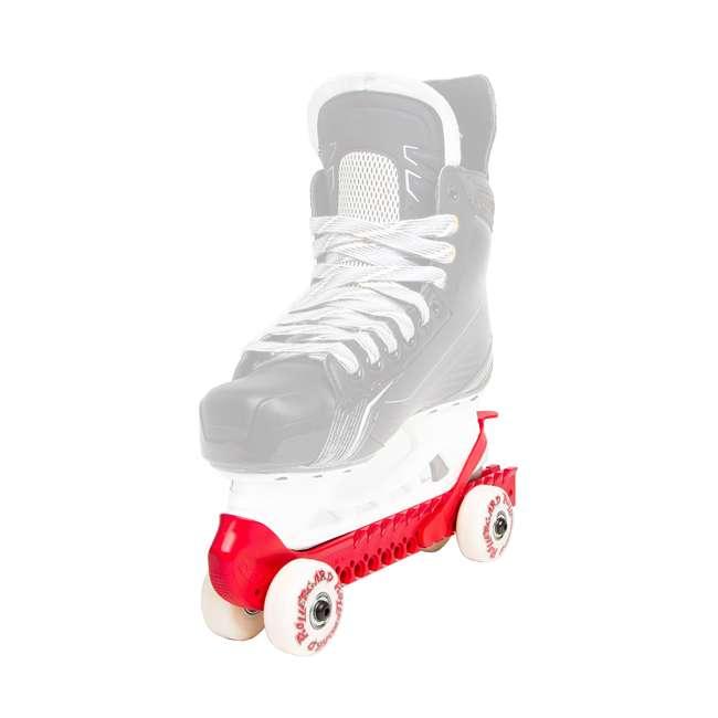 44374-R Rollergard 44374-R Adjustable Kids Ice Skate Guard & Roller Skate, Red (Pair) 1