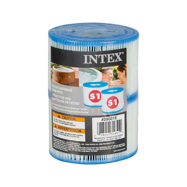 28502E + 3 x 29001E Intex Pure Spa Hot Tub Seat (2 Pack) + Type S1 Filters (6 Count) 6