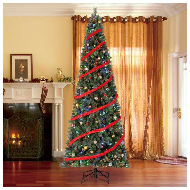 TGC0M3W92D00-U-A Home Heritage 12' Cascade PVC Christmas Tree & Changing LED Lights (Open Box) 3