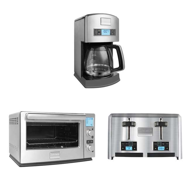 Frigidaire Coffee Maker Flashing Cup : Frigidaire 12-Cup Drip Coffee Maker + Convection Toaster Oven + 4-Slice Toaster : FPAD12D7PS ...