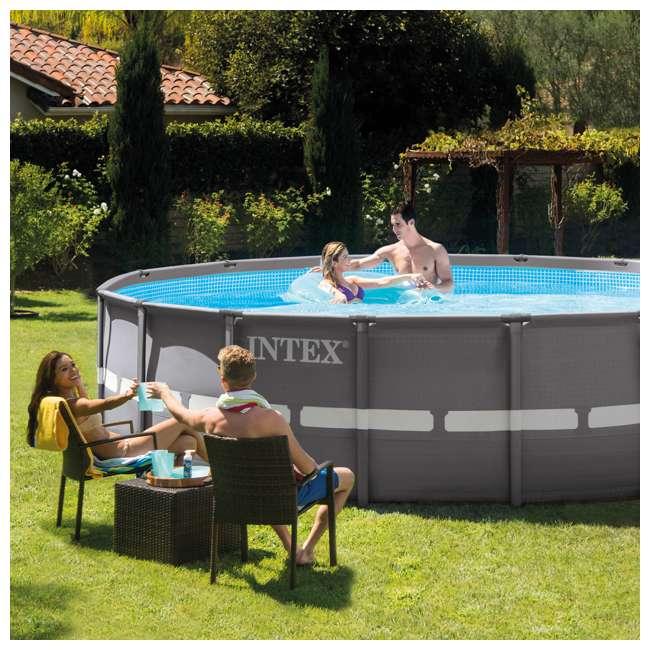 "28323EH Intex 16' x 48"" Ultra Frame Swimming Pool Set & 1200 GPH Sand Filter Pump 1"