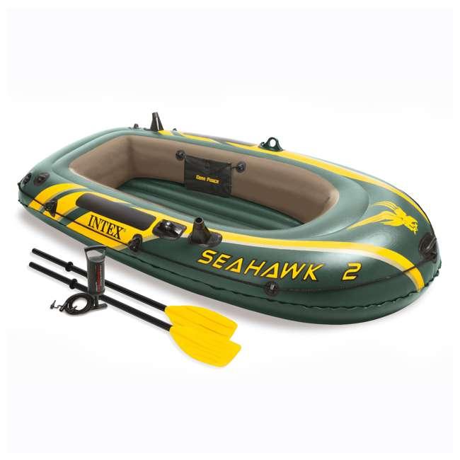 68347EP + 2 x 68631E Intex Seahawk 2 Inflatable Raft & 2 Trolling Motors 1