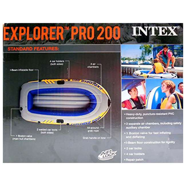 58356WL-U-A Intex Explorer Pro Youth Boat Raft (Oars/Pump Not Included)(Open Box) (2 Pack) 2
