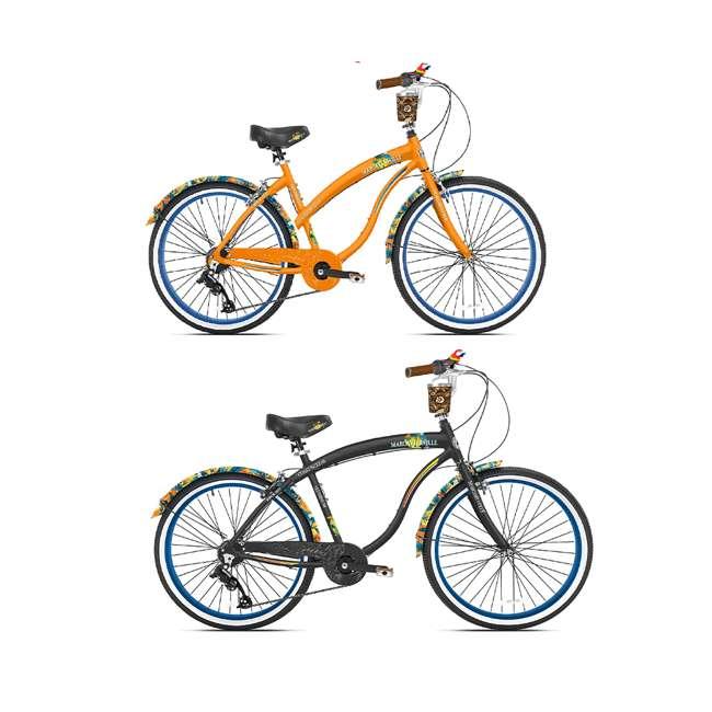 """82675 + 82674 Margaritaville 26"""" Women's & Mens Cruiser Bike w/ Sturdy Handles & Alloy Frame"""