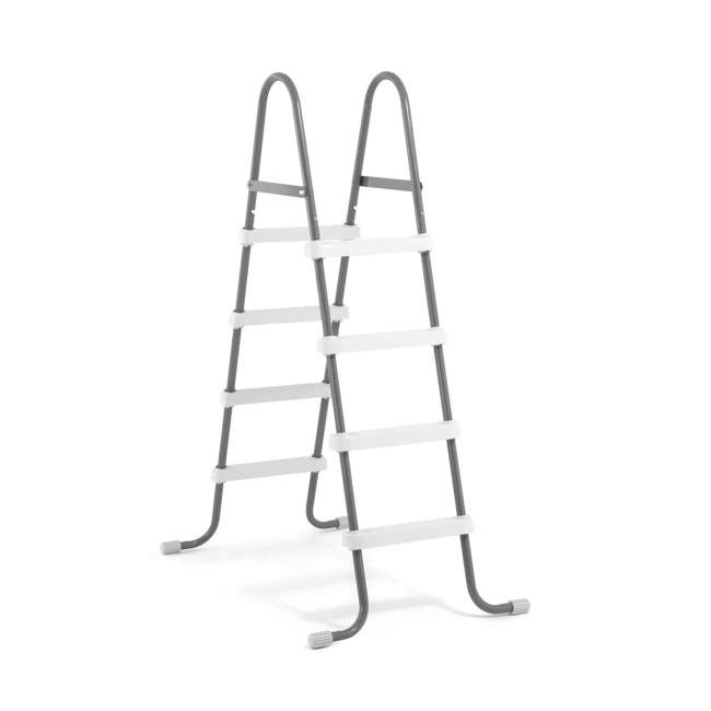 I28066 Intex Above Ground Pool Ladder for 48 Inch Wall Height Pool (Brown Box)