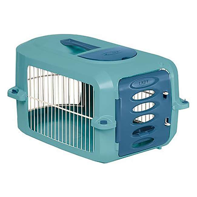 PCR1913A-U-A Suncast Personalizable Pet Carrier with Food and Water Tray (Open Box) (2 Pack)