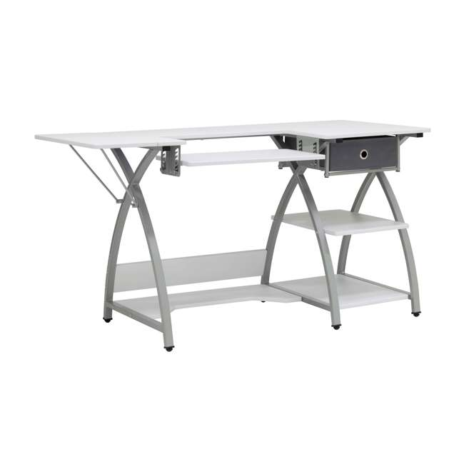 STDN-38018 Sew Ready STDN-38018 Venus Sewing Machine Craft Table Computer Desk, Silver