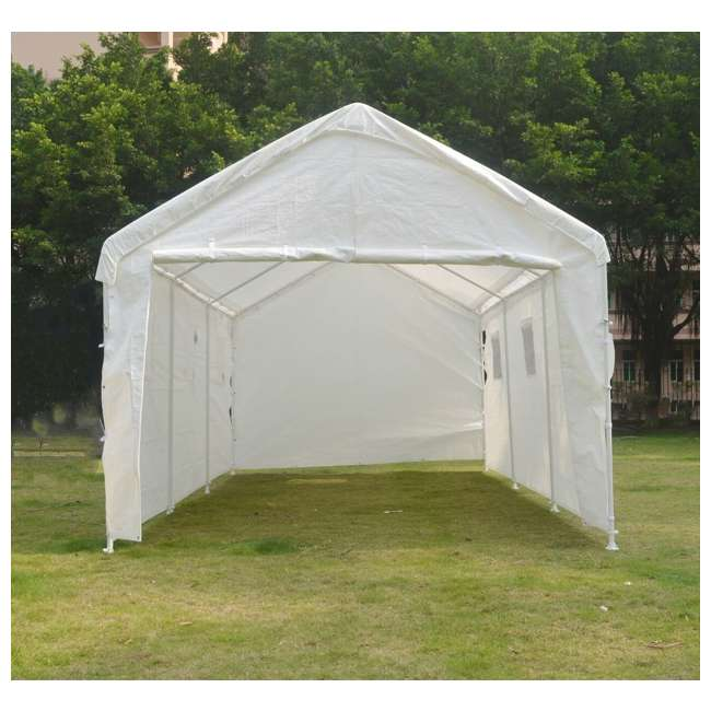 Enclosed Motorcycle Shelter : True shelter foot universal enclosed tent canopy