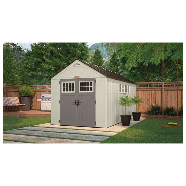 BMS8165 Suncast 883 Cubic Foot Tremont Outdoor Storage Shed 1