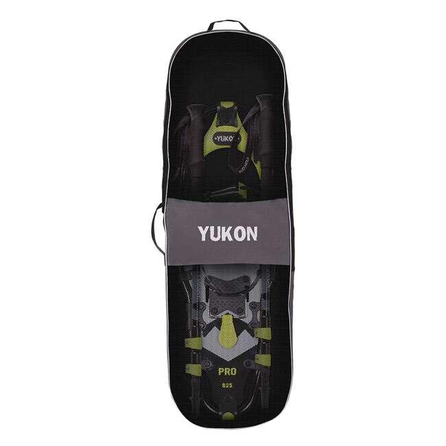80-2009k Yukon Charlie's Pro Series Men's Snowshoe Kit w/ Poles and Bag, Black/Yellow 4