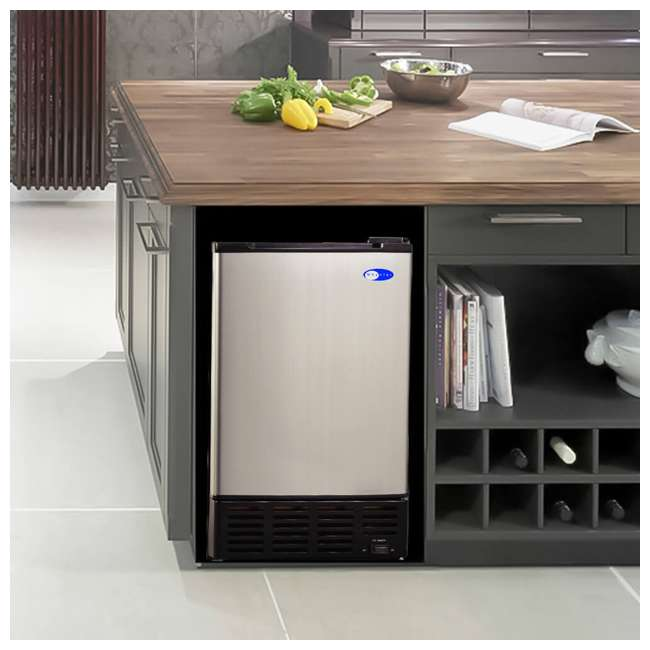 UIM-155 Whynter UIM-155 Freestanding Stainless Steel Compact Kitchen Built-In Ice Maker 2