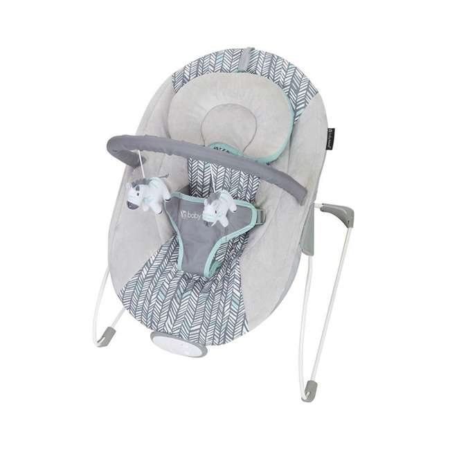 BC20B25B Baby Trend EZ Baby Bouncer with 2 Hanging Toys and Calming Vibrations, Ziggy