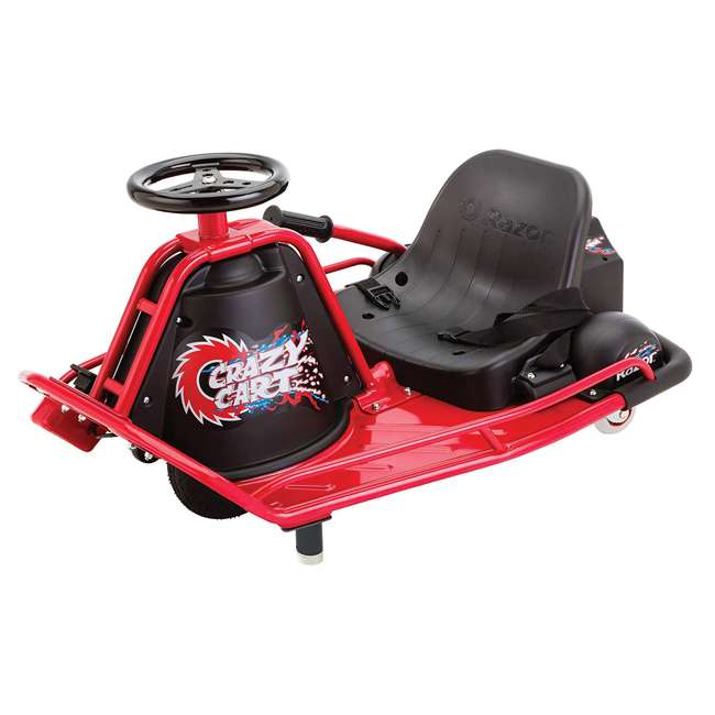 25143499 Razor Crazy Cart Electric 360 Spinning Drifting Ride On Go Cart