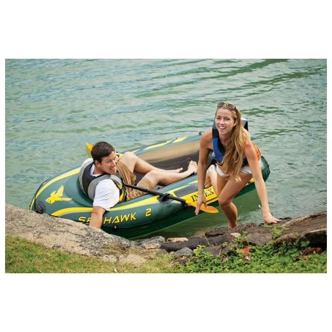68347EP + 2 x 68631E Intex Seahawk 2 Inflatable Raft & 2 Trolling Motors 6